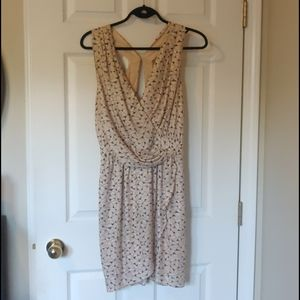 BCBGENERATION Beige Drape Dress